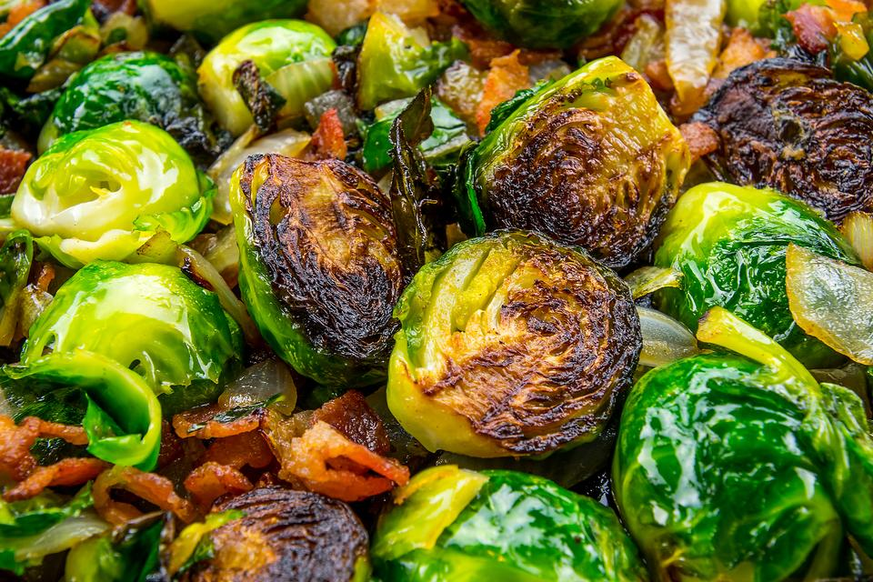 Roasted Brussels Sprouts With Bacon Will Add the Hip Factor to Your Thanksgiving Dinner