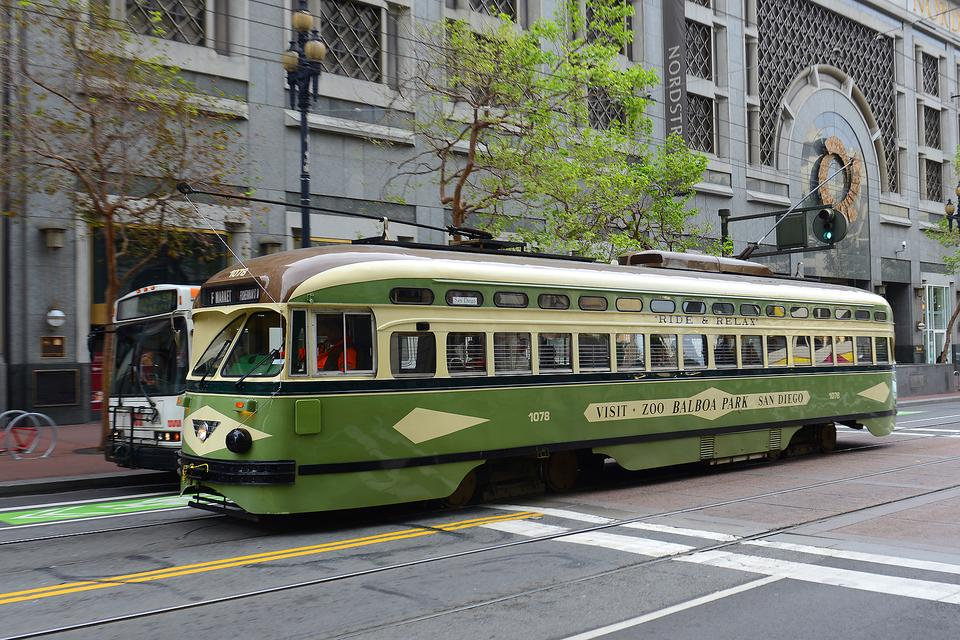 San Francisco's Heritage Streetcars: Nostalgia From Around the World in California