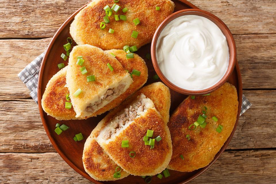 Hearty Potato Pancakes Recipe: Stuffed Mashed Potato Pancakes Recipe With Ground Meat Filling