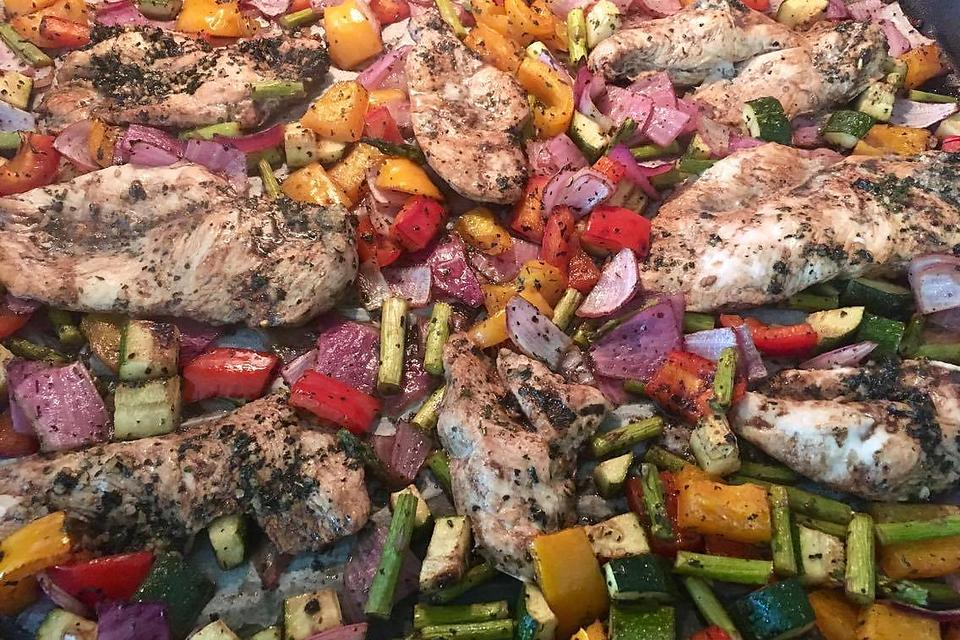 How to Make Sheet Pan Balsamic Chicken & Vegetables (Quick, Easy & So Delicious)!