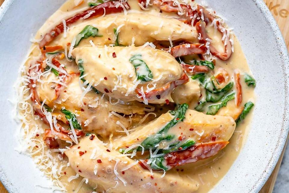 Slow Cooker or Instant Pot trade  Tuscan Chicken Recipe  A Healthier  Gluten free Creamy Tuscan Chicken Recipe