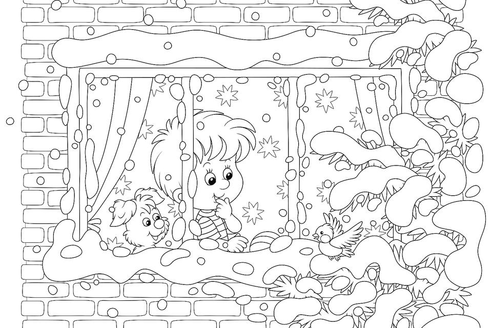 Winter Coloring Pages - Itsy Bitsy Fun | 640x960