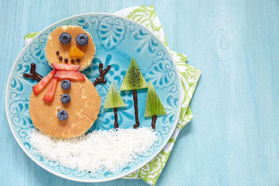 Snow Day Activities: This Snowman Pancake Is a Fun Way to Celebrate Winter With Kids