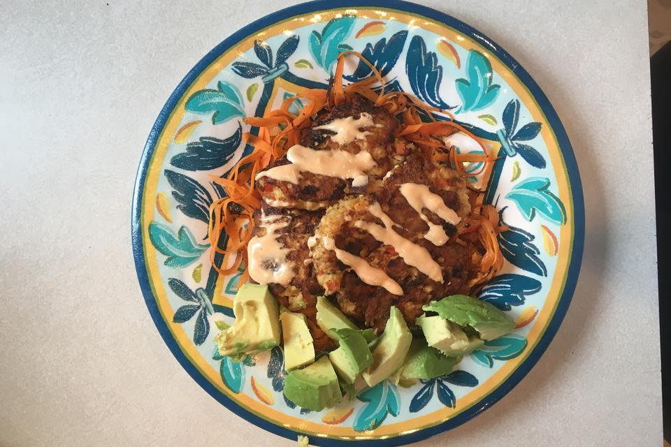 "Tuna Cakes With Carrot ""Noodles"": Spice Up Lent & Your Tuna With This Easy Recipe!"