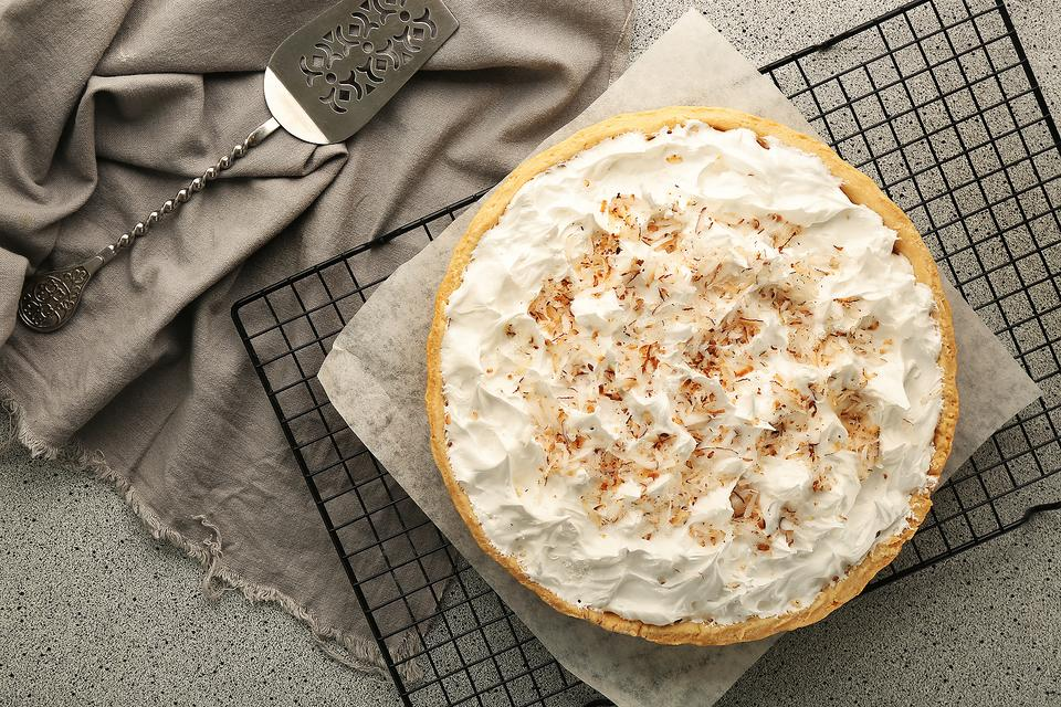 Rum Toasted Coconut Custard Tart: Close Your Eyes & You're in the Tropics