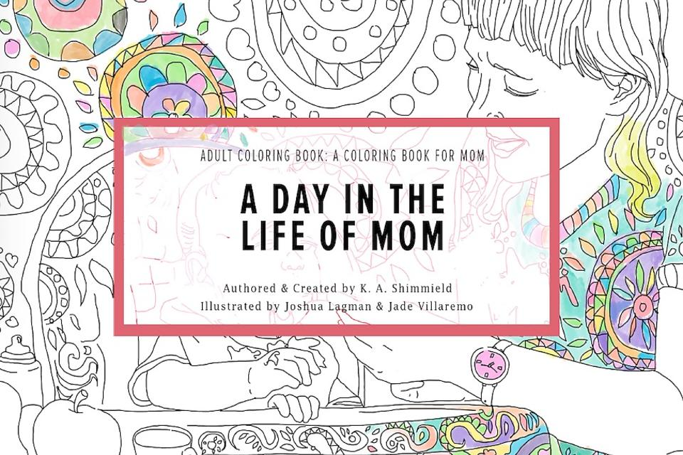 Stressed, Moms? Here's an Adult Coloring Book Just for You!