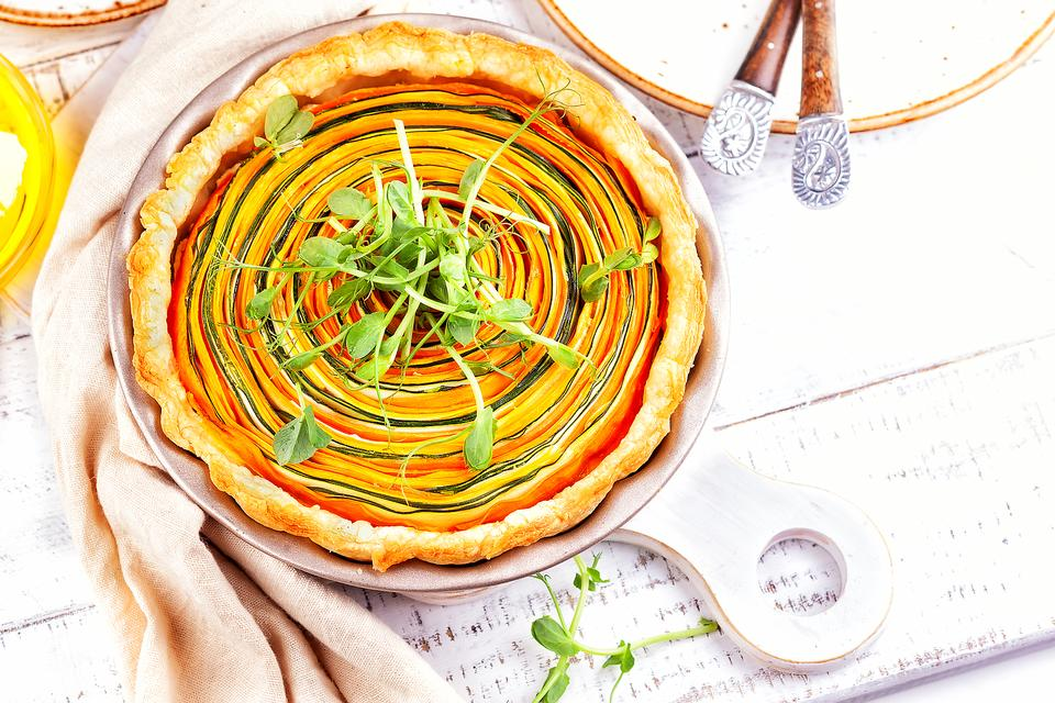 Spiral Summer Vegetable Tart: This Zucchini, Squash & Eggplant Tart Recipe Is As Delicious As It Is Beautiful
