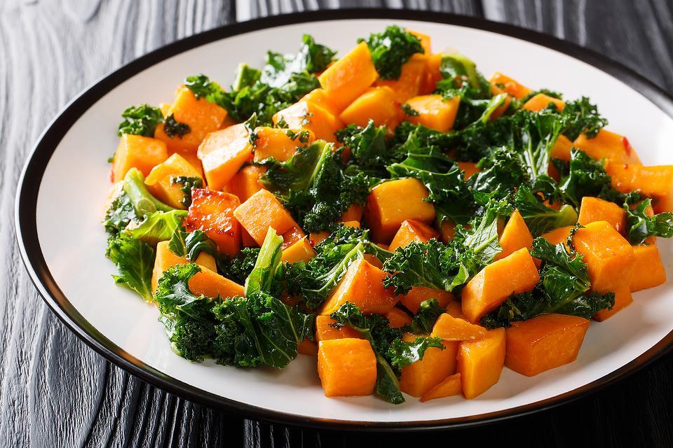 Spicy Sweet Potato & Kale Sauté: This Healthy Sweet Potato & Kale Recipe Is Anything But Boring