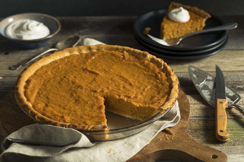 This Sweet Potato Pie Recipe Takes It Up a Notch With a Crunchy Sugar Topping