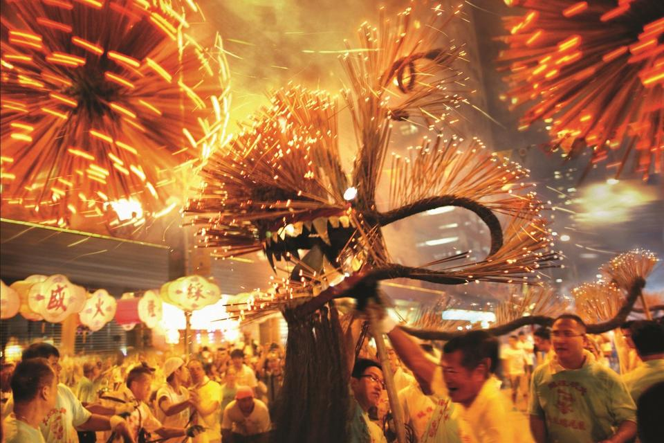 Tai Hang Fire Dragon Dance Headlines Mid-Autumn Festival Celebration in Hong Kong