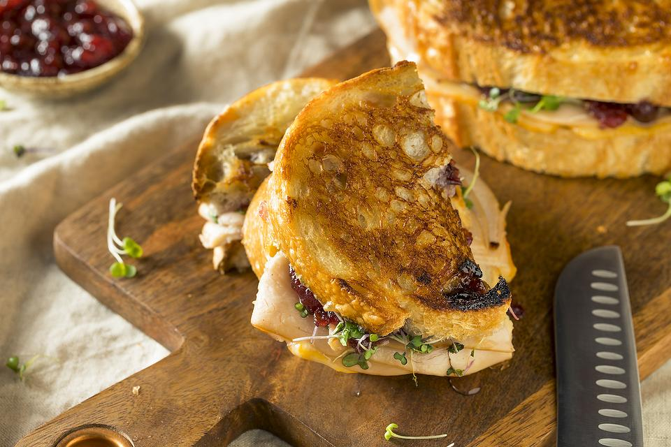 This Turkey & All the Fixin's Panini Recipe Is a Creative Way to Use Up Thanksgiving Leftovers