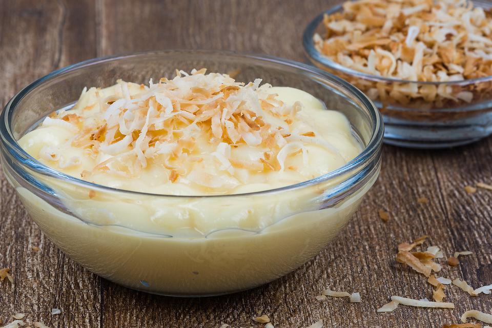 The Best Coconut Pudding Recipe: Easy Creamy Coconut Pudding Recipe With Toasted Coconut