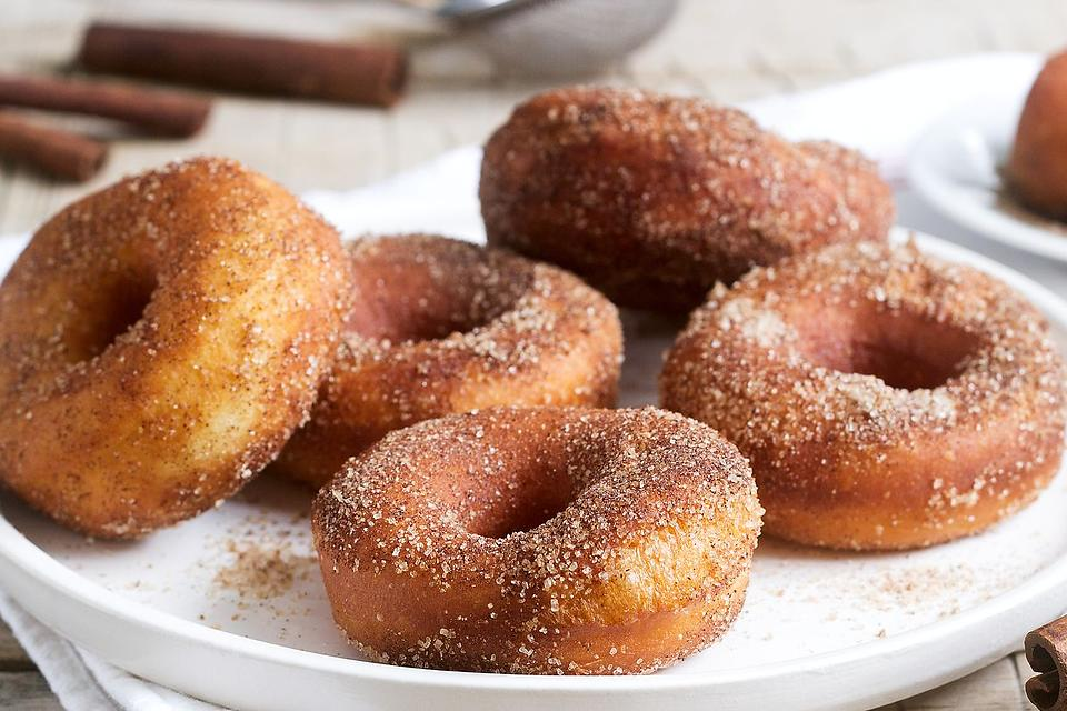 Air Fryer Cinnamon-Sugar Doughnuts Recipe: This 5-Minute Donut Recipe Is Addictive