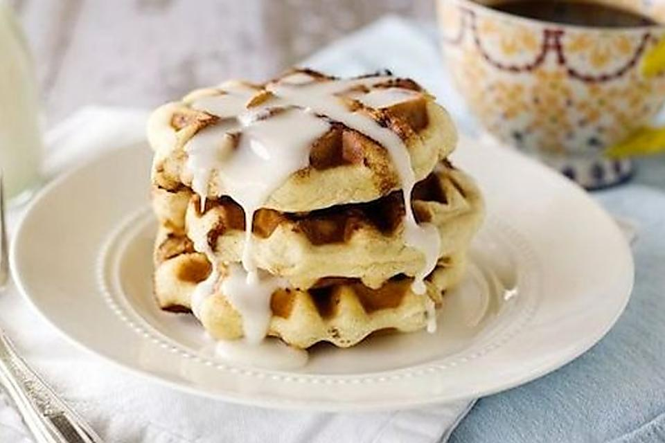 This Cinnamon Roll Waffles Recipe Takes Breakfast & Sunday Brunch to the Next Level