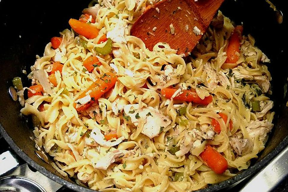 This Easy Chicken & Egg Noodles Recipe Is Like Grandma Used to Make (Almost)