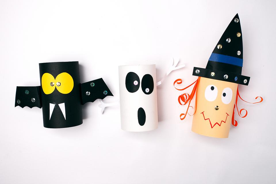 Toilet Paper Tube Crafts: How to Recycle Them Into Fun Halloween Decorations!