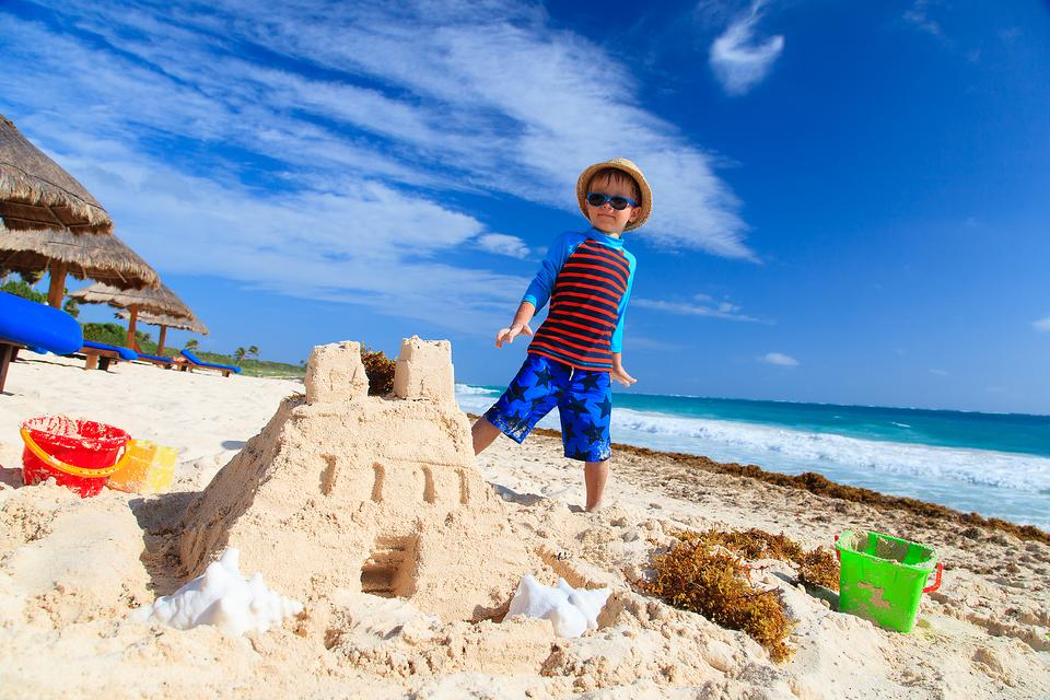 Turn Your Kid's Sandcastle Into a Work of Art! Here's the Colorful Trick!