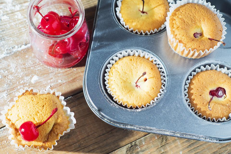 Vanilla Maraschino Cherry Muffins Will Put a Smile on Your Face