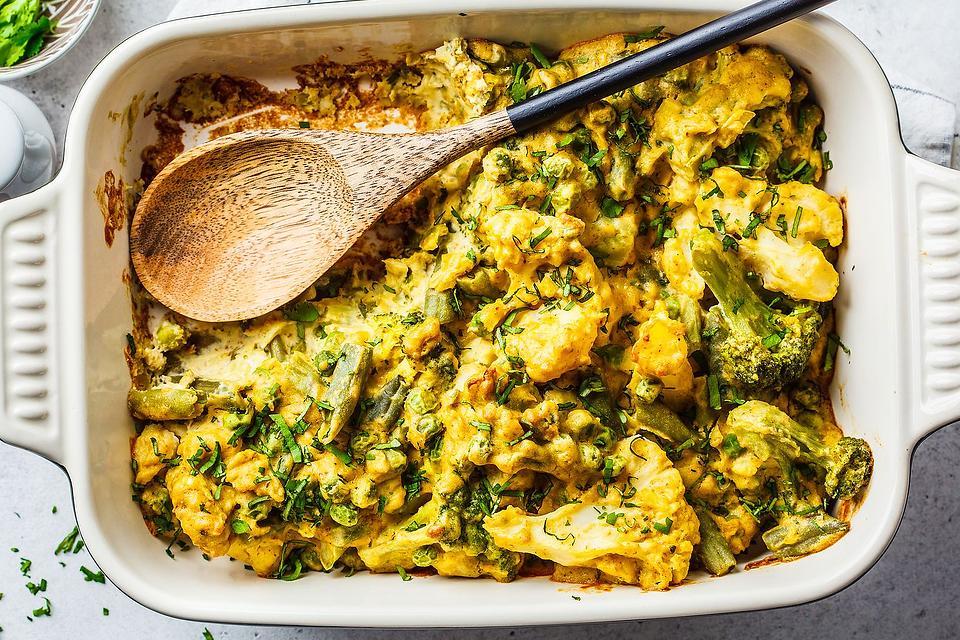 The Cheesiest Vegetable Casserole Recipe: Easy Broccoli, Cauliflower & Asparagus Casserole Recipe