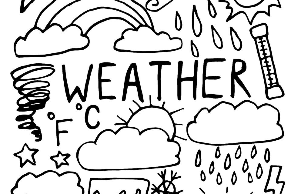 Weather Coloring Pages For Kids: Fun & Free Printable Coloring Pages Of  Weather Events – From Hurricanes To Sunny Days Printables 30Seconds Mom