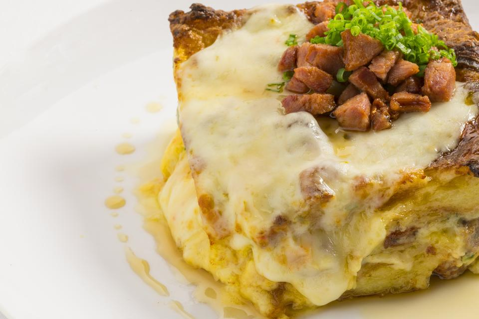 Chef Adrianne Calvo's Buttery Sausage, Egg & Cheese Casserole Is What to Make for Sunday Brunch