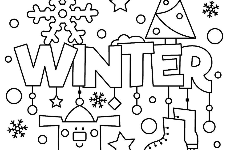 printable kids coloring pages Winter Puzzle & Coloring Pages: Printable Winter Themed Activity  printable kids coloring pages