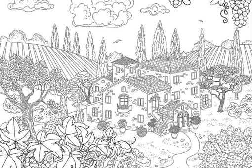 Travel Coloring Pages: 17 Printable Coloring Pages for Adults of Scenic Places You'd Want to Escape To