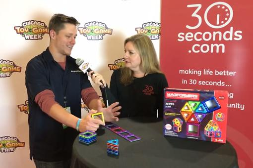 #30Seconds Live: Chicago Toy & Game Fair (ChiTAG) With Mitchell Barman From Magformers!