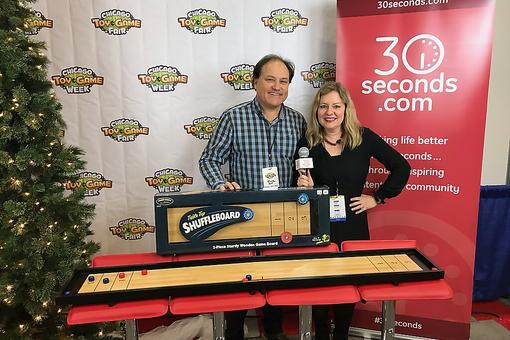 Table Top Shuffleboard From University Games Is Pub Fun at Home: See It in Action at the Chicago Toy & Game Fair (ChiTAG)!