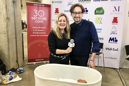 #30Seconds Live: Happiest Baby's Dr. Harvey Karp Demonstrates SNOO, the Bed That Soothes Babies to Sleep