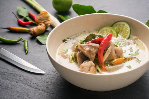 #30Seconds Live: How to Make Tom Kha Gai (Chicken Coconut Milk Soup), As Taught by a Thai Chef!