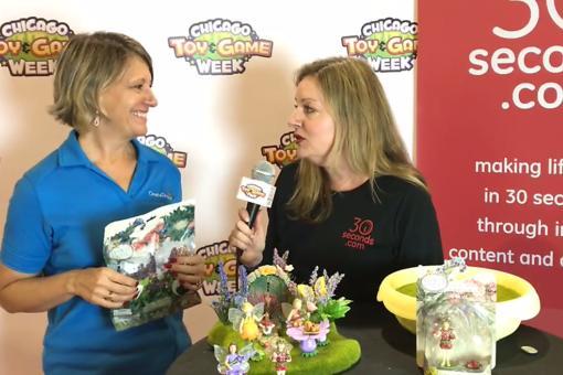 #30Seconds Live: The Chicago Toy & Game Fair With Flower Fairies Secret Garden Creator Joyce Sprau!