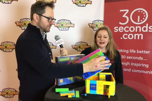 ​#30Seconds Live: The Chicago Toy & Game Fair With Groovy Blocks Inventor Brady Peterson!