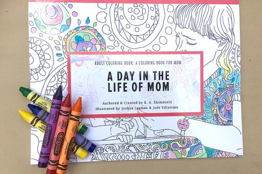 Adult Coloring Book for Mom Proves Laughter is the Best Medicine!