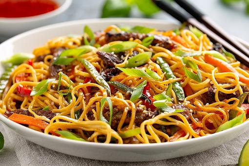 Asian Beef & Noodles Recipe: This Beef Lo Mein Recipe Is Chopsticks Ready in 20 Minutes