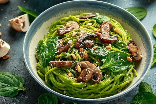 Avocado Pesto Recipe: This Avocado Pesto With Pasta & Mushrooms Recipe Is Vegetarian & Vegan