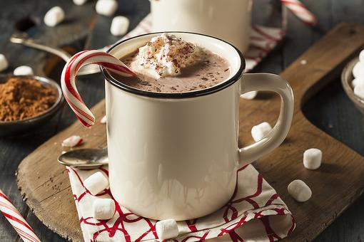 Homemade Cocoa: How to Make Hot Chocolate With Peppermint Whipped Cream!