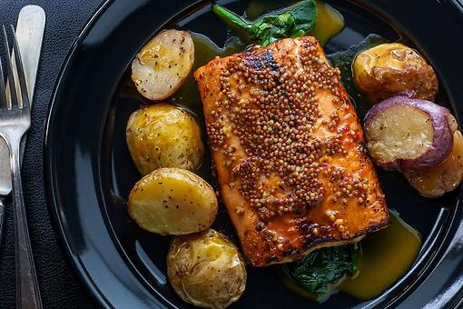 20-Minute Baked Mustard Salmon Recipe: This Succulent Whole-Grain Mustard Salmon Recipe Has Just 3 Ingredients