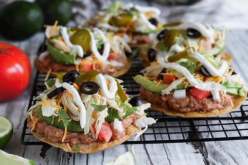 Chicken & Bean Tostadas Recipe: Dinner Just Got a Lot Easier With This Easy Tostada Recipe