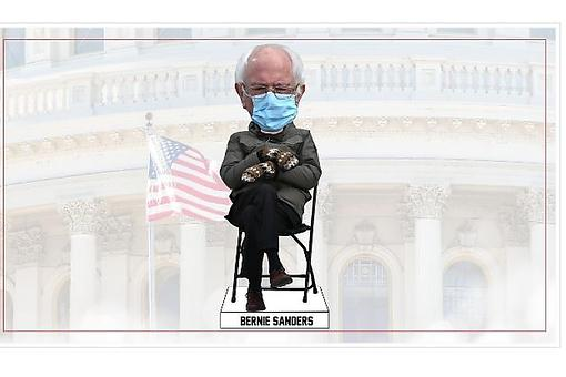 ​Bernie Sanders Inauguration Day Bobblehead: The Senator & His Inauguration Mittens Are Now a Bobblehead Bestseller