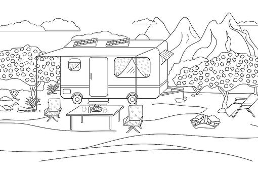 Camping Coloring Pages for Families: Fun & Free Printable Coloring Pages of Camping & the Great Outdoors
