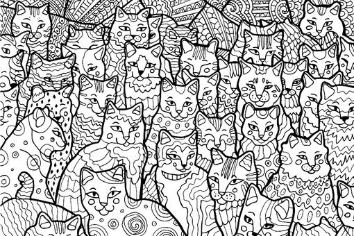 Free Cat Coloring Pages: Purr-fect Printable Coloring Pages of Cats for Cat Lovers of All Ages