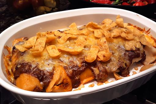 Cheesy Tamale Casserole Recipe With Corn Chips & Chili: This Frito Pie Recipe Invited Tamales to the Party