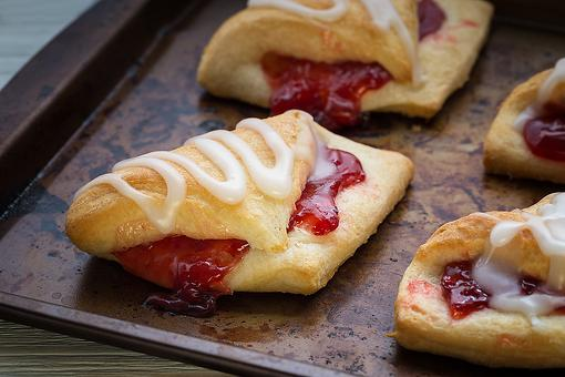 Sweet Cherry Turnovers Recipe: Fresh, Hot Cherry Turnovers on the Table in 30 Minutes