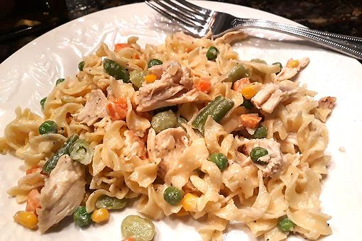Easy Chicken Recipe: This Chicken Pot Pie Noodles Recipe Is the Comfort Food We Need