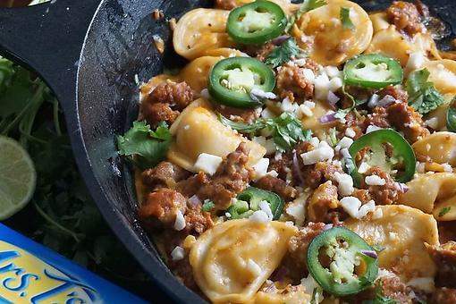 Chorizo & Pierogi Skillet Recipe: Polish Meets Mexican in This One-Pan 30-Minute Recipe