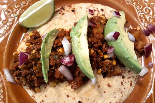 This Chorizo, Potato & Poblano Tacos Recipe Will Rock Your Taco Night