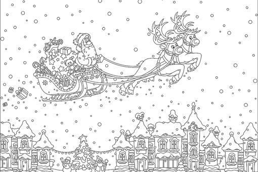 Christmas Coloring Pages for Kids & Adults: 16 Free Printable Coloring Pages for the Holidays