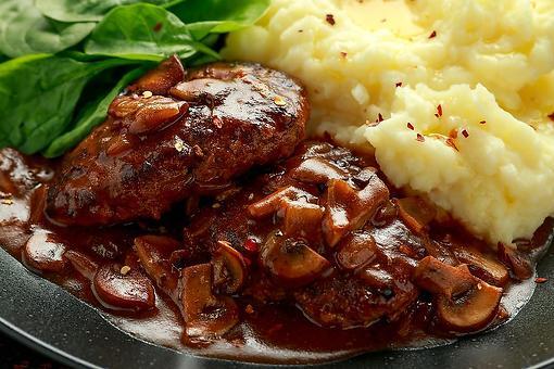One-Pan Salisbury Steak Recipe: A Classic Homemade Salisbury Steak With Wild Mushroom & Onion Gravy