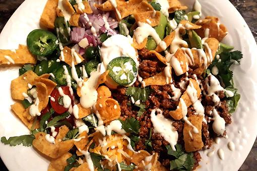 Corn Chip Taco Salad Recipe: Shake Things Up With This Frito Taco Salad Recipe on Taco Night